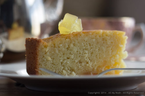 Passion Fruit Almond Cake