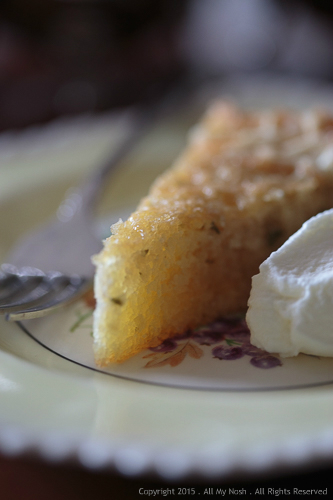 Lemon Thyme and Lavender Almond Cake