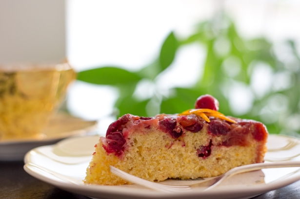 Orange and Cranberry Upside Down Cake-3