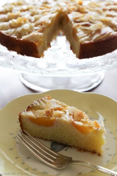 Peach Almond Cake-12